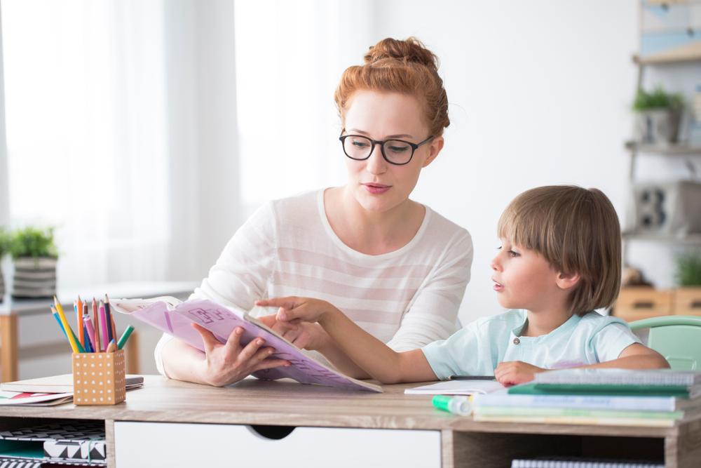 a teacher with a pupil