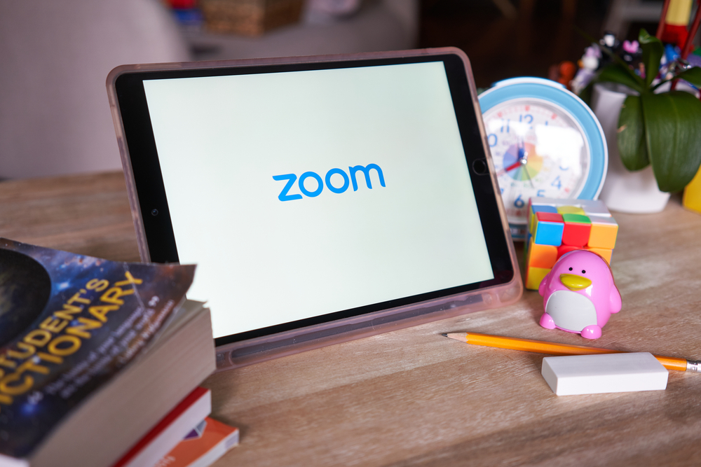 tablet with zoom