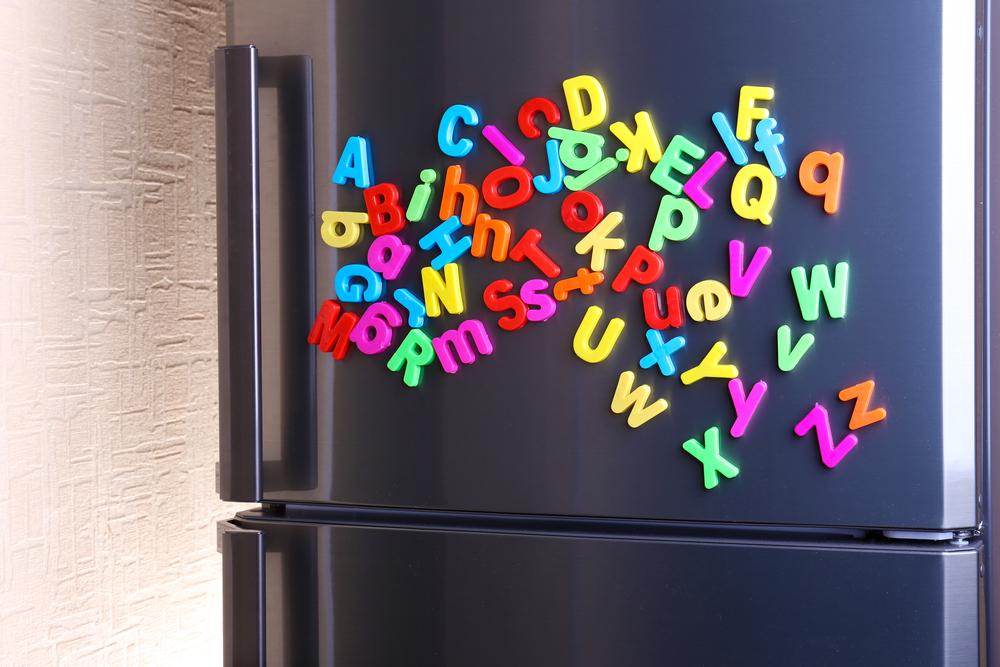 Magnetic Letters Fridge Match-Up
