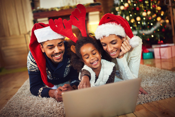 family on cristmas