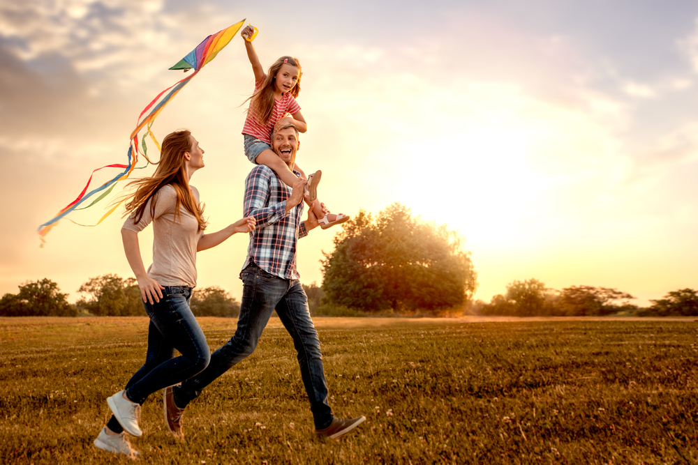 family outdoor running activities