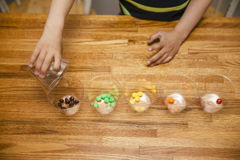 glasses with candies