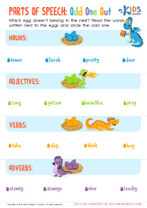 Parts of speech: odd one out