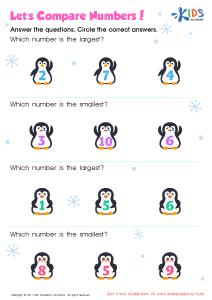 Comparing numbers 1-10 worksheet kindergarten