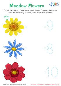 Kindergarten number tracing worksheet pdf