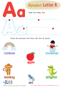 Letter A Tracing Worksheet Preview