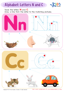 Letter N and C Tracing Worksheet Preview