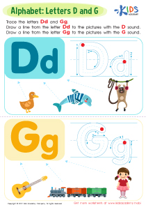 Letter D and G Tracing Worksheet Preview