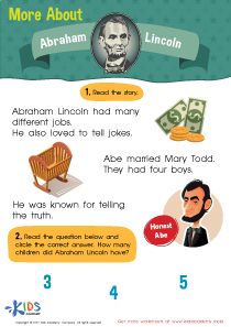 More About Abraham Lincoln Worksheet