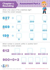 Rounding 3-digit numbers worksheet