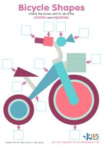 Bicycle Shapes Worksheet Preview