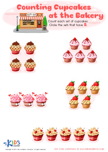 Counting Cupcakes Worksheet Preview