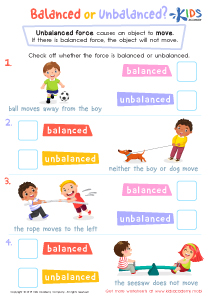 Balanced or unbalanced science worksheet