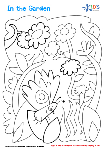Printable Coloring Page: In The Garden