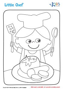 Printable Coloring Page: Little Chef