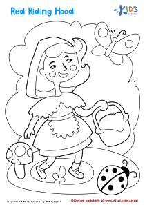 Printable Coloring Page: Red Riding Hood
