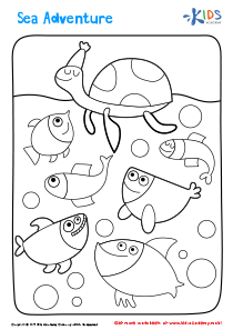 Printable Coloring Page: Sea Adventure