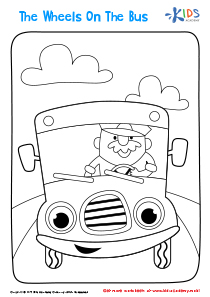 Printable Coloring Page: The Wheels on the Bus
