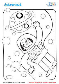 Printable Coloring Page: Astronaut