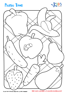 Printable Coloring Page: Picnic Time