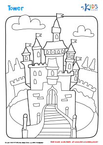 Printable Coloring Page: Tower