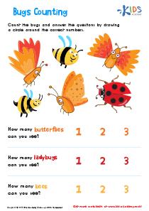 Bugs Counting Printable Worksheet