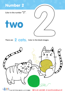 Coloring Page: Number 2