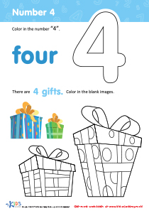 Coloring Page: Number 4
