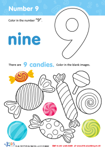Coloring Page: Number 9