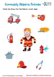 Community Helpers Fireman