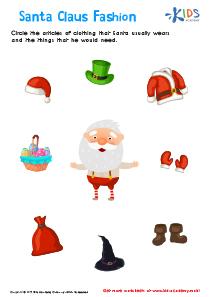 Santa Claus Printable Worksheet