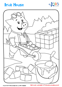 Brick House printable coloring page