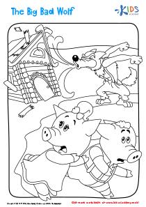 Big Bad Wolf printable coloring page