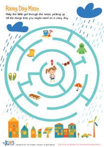 Rainy Day Printable Maze