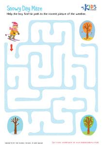 Snowy Day Maze