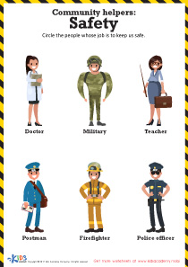 Community Helpers: Safety Printable