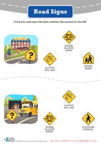Road Signs Worksheet Printable