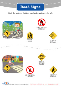 Road Signs for Kids Worksheets