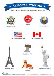 USA National Symbols Worksheet