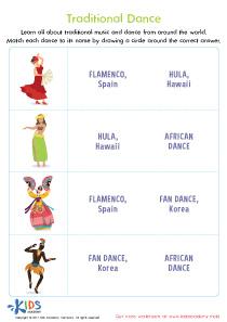 Traditional Dance Worksheet