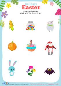 Free printable Easter worksheet