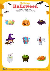 Free printable Halloween worksheet