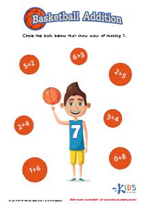 Addition worksheet for kindergarten pdf