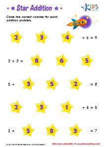 Addition Worksheet PDF for Kindergarten