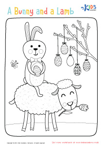 Colors of Easter - Easter Bunny Coloring Page