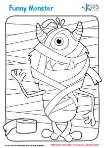 Halloween Coloring Pages: A Funny Monster