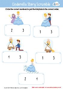 Cinderella story sequencing worksheet