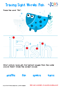 Sight Words Worksheet: Fish