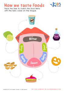 How We Taste Foods Worksheet