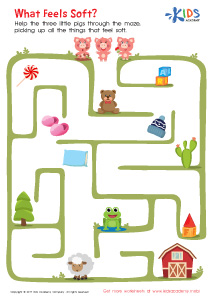 What Feels Soft Printable Maze